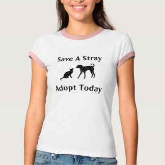 adopt a stray t-shirts