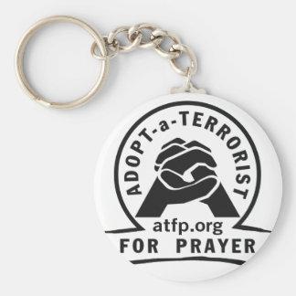 Adopt a Terrorist For Prayer Basic Round Button Keychain