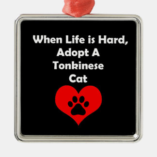 Adopt A Tonkinese Cat Metal Ornament