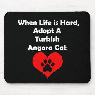 Adopt A Turkish Angora Cat Mouse Pad