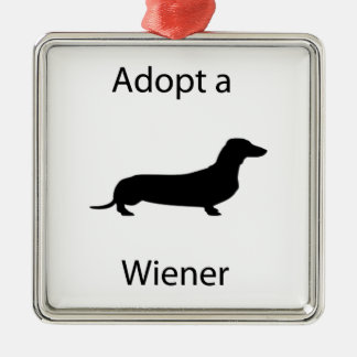 Adopt a wiener christmas ornaments