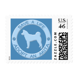 Adopt an Akita Postage Stamps