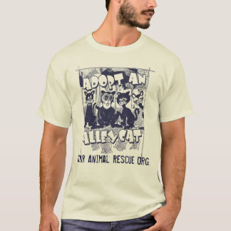 Adopt an Alley Cat by Mudge Studios T-Shirt
