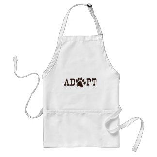 Adopt an animal adult apron