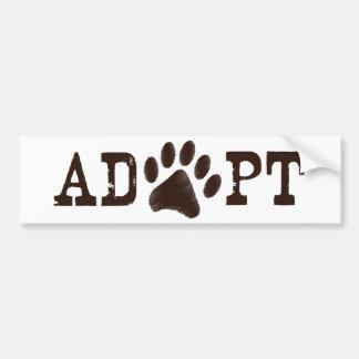 Adopt an animal car bumper sticker