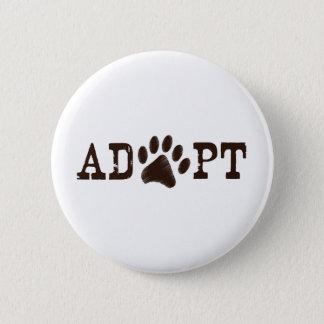 Adopt an animal pinback button