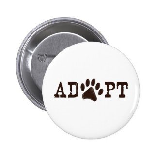 Adopt an animal pinback button