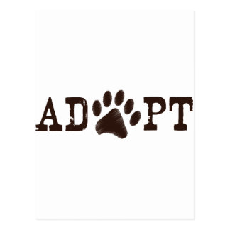 Adopt an animal postcard