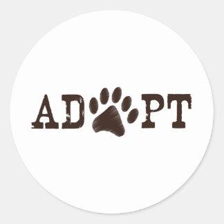 Adopt an animal classic round sticker
