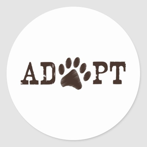 Adopt an animal stickers