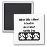 Adopt An Australian Cattle Dog 2 Inch Square Magnet