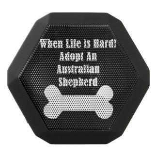 Adopt An Australian Shepherd Black Bluetooth Speaker