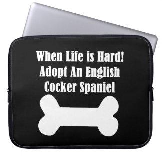 Adopt An English Cocker Spaniel Laptop Computer Sleeves