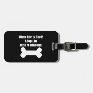 Adopt An Irish Wolfhound Tag For Luggage