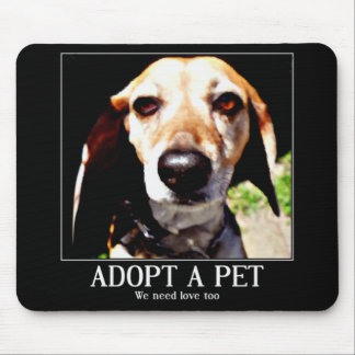 Adopt apet,We need love too_ Mouse Pad