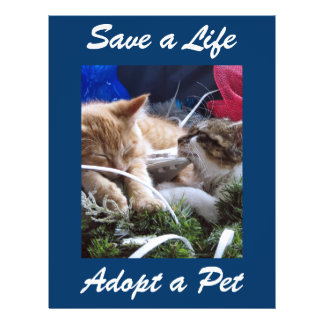 Adopt Cat Dog Animal, Rescue a Pet, Save a Life Personalized Flyer