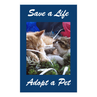 Adopt Cat Dog Animal, Rescue a Pet, Save a Life Flyers
