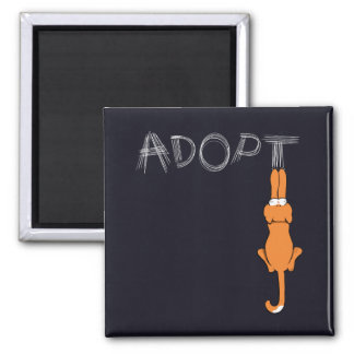 Adopt Cats Rusty™ Pet Adoption 2 Inch Square Magnet