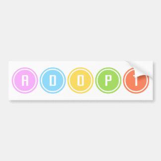 Adopt Circles Car Bumper Sticker