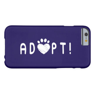 Adopt Dogs and Cats with Paw Print Barely There iPhone 6 Case