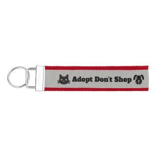 Adopt Don't Shop Pet Rescue Grosgrain Keychain