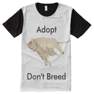 Adopt Don't Breed All-Over-Print T-Shirt