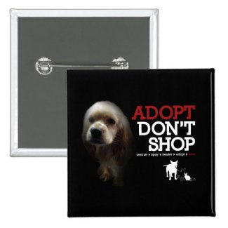 Adopt Don't Shop 2 Inch Square Button