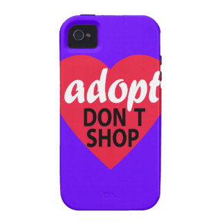 Adopt Dont Shop iPhone 4 Cases