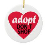 Adopt Dont Shop Ceramic Ornament