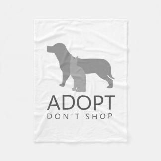 Adopt Don't Shop Fleece Blanket