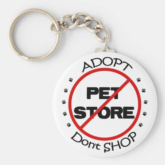 Adopt Don't Shop Keychain
