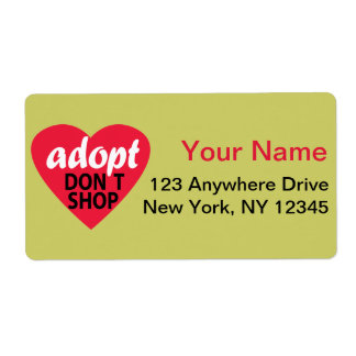 Adopt Dont Shop Shipping Label