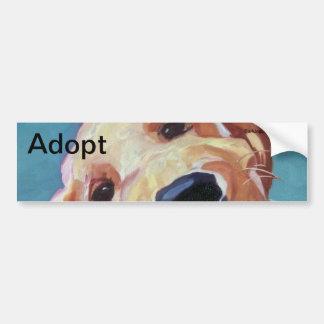 Adopt don't Shop Pet Portrait Bumper Sticker