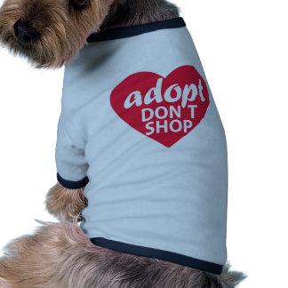 Adopt Dont Shop Pet T-shirt