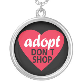 Adopt Dont Shop Silver Plated Necklace