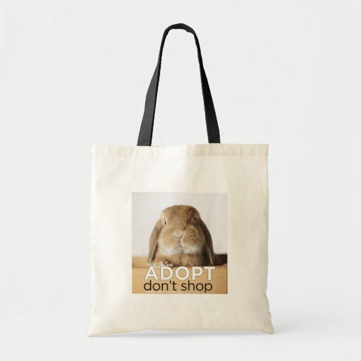 ADOPT DONT SHOP TOTE BAGS