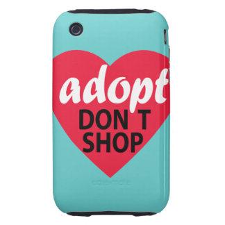 Adopt Dont Shop Tough iPhone 3 Cover