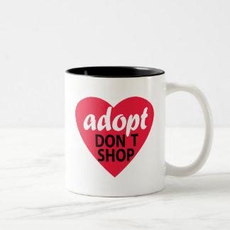 Adopt Dont Shop Two-Tone Coffee Mug