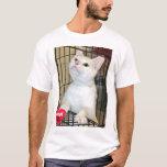 Adopt Don't Shop White Cat Shirt