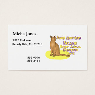 Adopt From The Pound Business Card