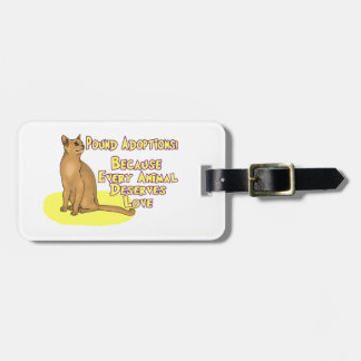 Adopt From The Pound Tags For Luggage