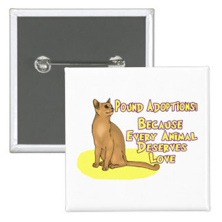 Adopt From The Pound Pinback Button