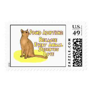 Adopt From The Pound Postage Stamp
