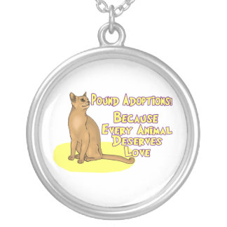 Adopt From The Pound Silver Plated Necklace