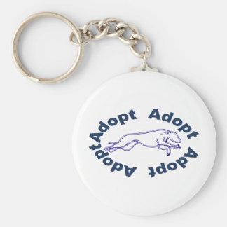 Adopt in Blue Keychain