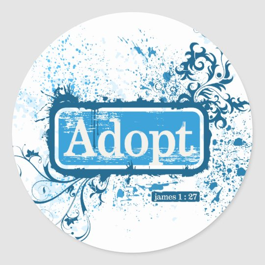 Adopt James 1:27 Round Sticker
