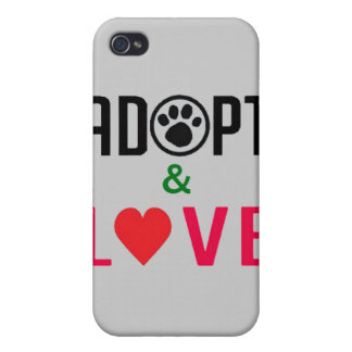 Adopt & Love iPhone4 Case iPhone 4/4S Covers