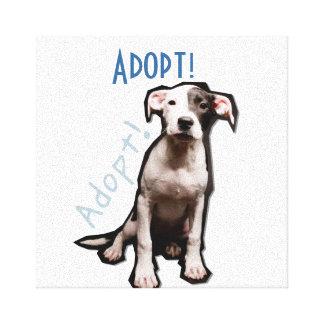 Adopt me! canvas print