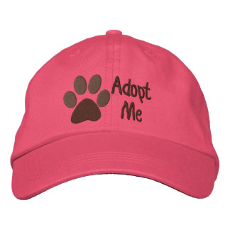 Adopt Me PawPrint Animal Adoption Embroidered Baseball Hat