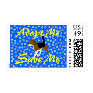 Adopt Me, Save Me (Beagle) Postage